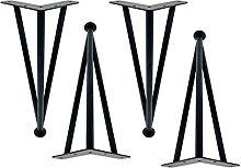 Hanghaijia Pieds de meubles en métal, pieds en
