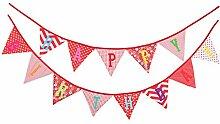 Haosell Banderole Happy Birthday - Guirlande