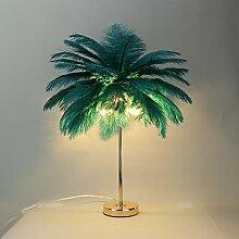 HAOXIU Lampe à plume, lampe de chevet moderne