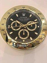 Haoyun Rolex Daytona Horloge murale silencieuse,