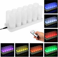 Happyshop - Telecommande coloree LED bougie