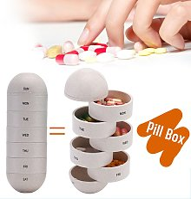 Happyshopping - Boite a pilules portable Capsule
