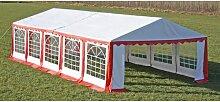 Happyshopping - Tente de reception 10 x 5 m Rouge