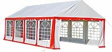Happyshopping - Tente de reception 8 x 4 m Rouge