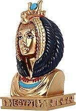 Happyyami Antique Égyptien Reine Figurine Reine