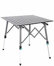 Hauteur de table pliante en aluminium portable