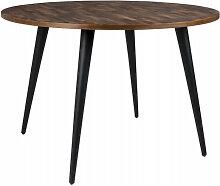 HAVANE - Table design de repas ronde en bois marron