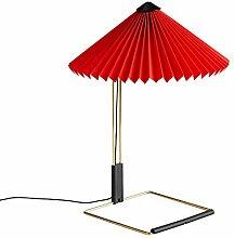HAY Matin Lampe de table LED S Rouge 38 cm