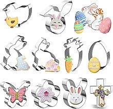 Hazikai 10 Pcs Easter Cookie Cutter DIY Decoratio