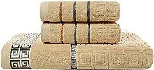 Hbao 3 serviettes de serviettes de bain serviette