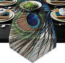 Hbao Feather Art Table Coureurs Décorations de