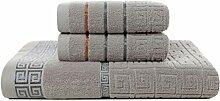Hbao Lot De 3 Serviettes 100% Coton 70x140cm