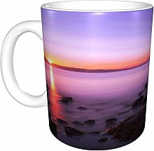 Hdadwy Sunrise At Mumbles Lighthouse Home Tasse à