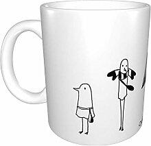 Hdadwy Tasse à café en céramique drôle unique