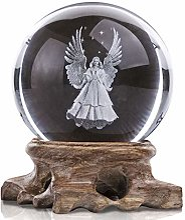 HDCRYSTALGIFTS Figurine d'ange 3D en forme de