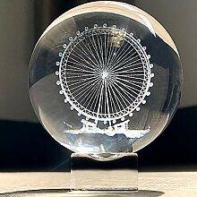 Hdcrystalgifts Presse-papier en forme de boule de