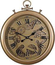 HDDFG Horloge Murale en métal rétro européen,