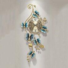 HDDFG Nouveau Style Chinois Maison Mode Horloge