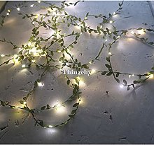 HDZBB Minuscules Feuilles Guirlande fée lumière