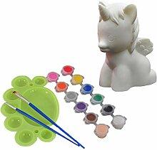 Healifty kit de Peinture Banque Licorne Peindre