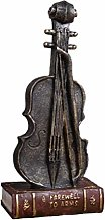 Healifty Violon Statue résine Violon Figurine