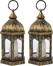 HEALLILY 2Pcs Vintage Lanterne LED Lampe À Huile