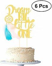 HEALLILY Lot de 6 décorations de gâteau Dream