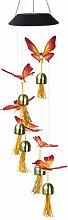 HEALLILY Solaire Vent Carillon Papillon Cloche