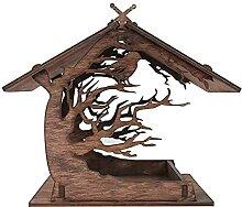 HechoVinen Mangeoire à oiseaux en bois en forme