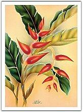 Heliconia de Frank Oda (Hale Pua Studio) c.1940s -