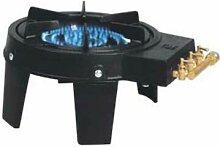 Heliotrade - Rechaud à gaz en fonte avec 2 rampes