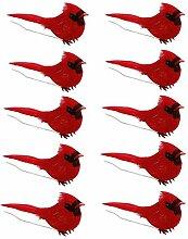 Hellery Cardinal Clip sur Arbre de noël Ornements