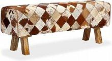 Helloshop26 Banquette pouf tabouret meuble banc