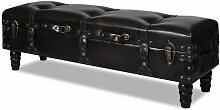 Helloshop26 - Banquette pouf tabouret meuble long