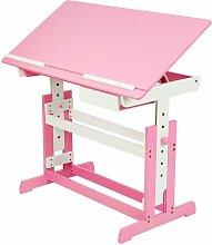 Helloshop26 - Bureau enfant meuble réglable en