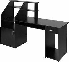 Helloshop26 - Bureau informatique meuble 164,5 x