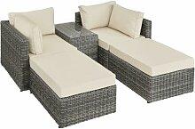 Helloshop26 - Canapé de jardin meuble modulable