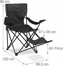Helloshop26 - Chaise de camping pliante fauteuil