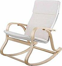 Helloshop26 Fauteuil à Bascule Rocking Chair