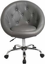 Helloshop26 - Fauteuil siège chaise capitonné