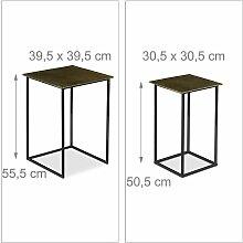 Helloshop26 - Lot de 2 tables gigogne design