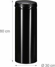 Helloshop26 - Poubelle en acier 50 litres bac à