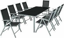 Helloshop26 - Salon de jardin aluminium 8 places