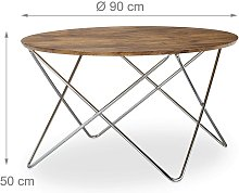 Helloshop26 - Table basse d'appoint ronde pieds