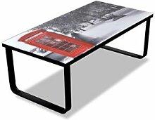 Helloshop26 Table basse de salon design verre