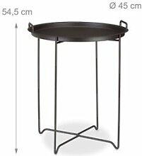 Helloshop26 Table d'appoint plateau amovible