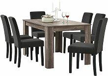 Helloshop26 - Table de salle à manger (chêne