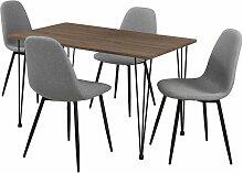 Helloshop26 - Table salle à manger aspect bois +