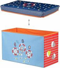Helloshop26 - Tabouret coffre boîte jouet pouf