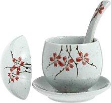 HEMOTON 1 Ensemble Japonais en Céramique Bol de
